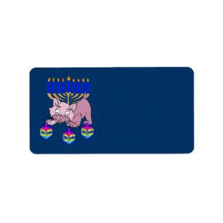 Hanukkah Kitty Label