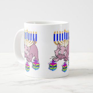 Hanukkah Kitty Large Coffee Mug