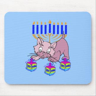 Hanukkah Kitty Mouse Pads