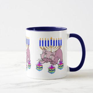 Hanukkah Kitty Mug