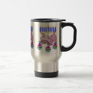 Hanukkah Kitty 15 Oz Stainless Steel Travel Mug