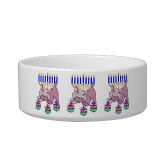 Hanukkah Kitty Pet Water Bowls