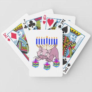 Hanukkah Kitty Bicycle Card Deck