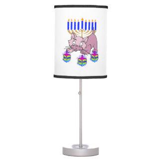 Hanukkah Kitty Table Lamp