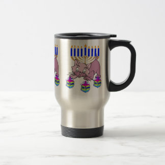 Hanukkah Kitty Travel Mug