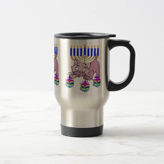 Hanukkah Kitty Travel Mug
