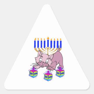 Hanukkah Kitty Triangle Sticker