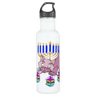 Hanukkah Kitty Water Bottle
