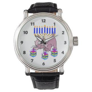 Hanukkah Kitty Wrist Watches