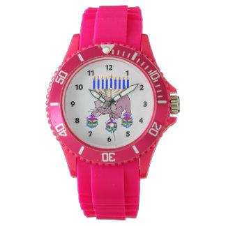 Hanukkah Kitty Wristwatch