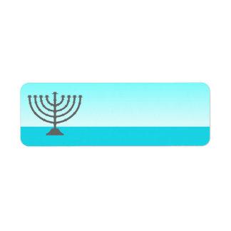 Hanukkah Label Menorah