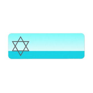 Hanukkah Label Star Of David