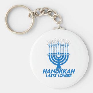 HANUKKAH LASTS LONGER -.png Keychain