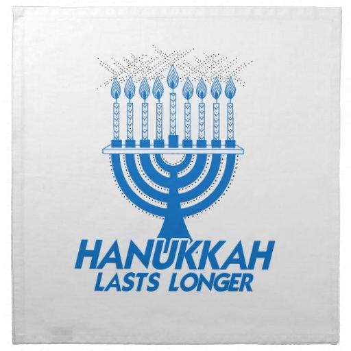 HANUKKAH LASTS LONGER -.png Printed Napkin
