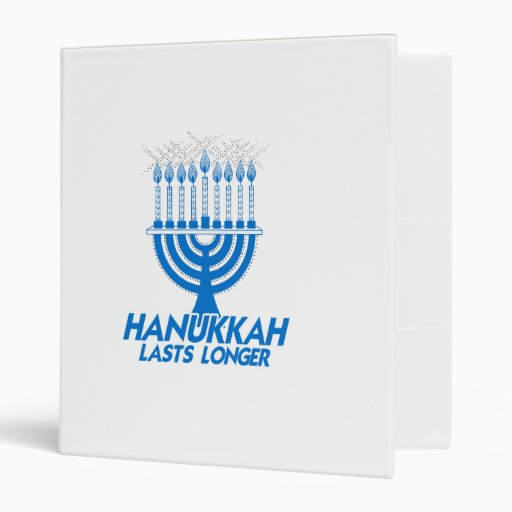 HANUKKAH LASTS LONGER -.png Vinyl Binder