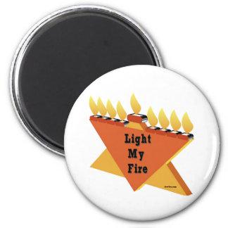 HANUKKAH LIGHT MY FIRE MENORAH GIFT 2 INCH ROUND MAGNET