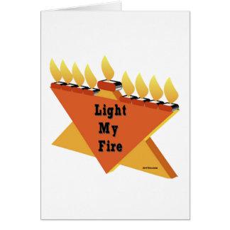 HANUKKAH LIGHT MY FIRE MENORAH GIFT GREETING CARD