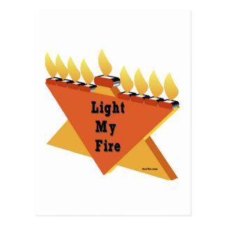 HANUKKAH LIGHT MY FIRE MENORAH GIFT POSTCARD