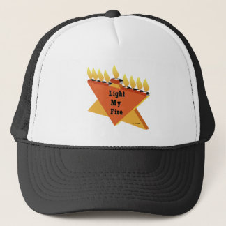HANUKKAH LIGHT MY FIRE MENORAH GIFT TRUCKER HAT
