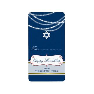 Hanukkah Light Sparkles Holiday Gift Tag Labels