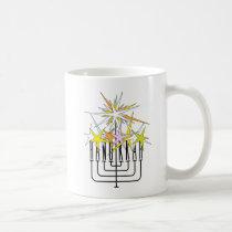 HANUKKAH LIGHTS COFFEE MUG
