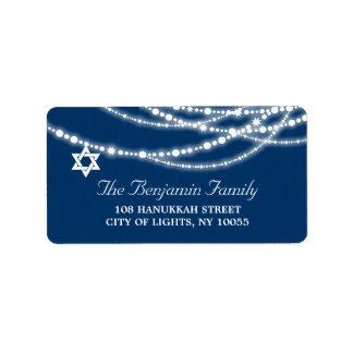 Hanukkah Lights Sparkles Holiday Address Labels