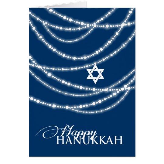 Hanukkah Lights Sparkles Holiday Photo Greetings Card