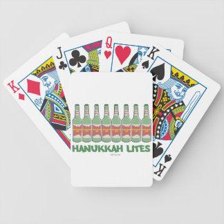 HANUKKAH LITES MENORAH  BOTTLES GIFTS BICYCLE PLAYING CARDS