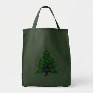 Hanukkah Menorah and Christmas Tree Bags