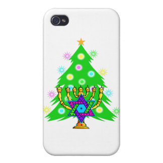 Hanukkah Menorah and Christmas Tree iPhone 4/4S Case