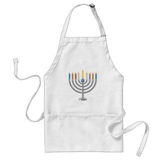 Hanukkah menorah apron