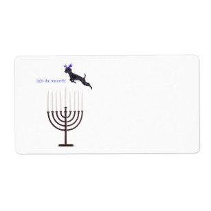 Standard Poodle Menorah ToFrom ENCLOSURE CARDS\u2022\u2022   Holiday gifts