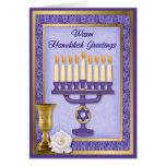 Hanukkah Menorah Blessings Greeting Card