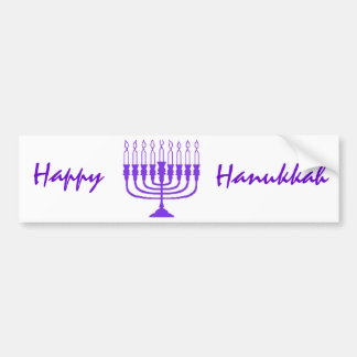 Hanukkah Menorah Bumper Sticker