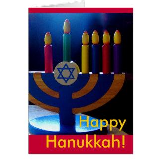 Hanukkah Menorah Card-Colors Card