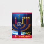 "Hanukkah Menorah Card-Colors Holiday Card<br><div class=""desc"">This lovely card is perfect for celebrating Hanukkah.</div>"