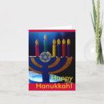 "Hanukkah Menorah Card-Colors Holiday Card<br><div class=""desc"">This lovely card is perfect for celebrating Hanukkah.</div>"