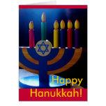 Hanukkah Menorah Card-Colors Stationery Note Card