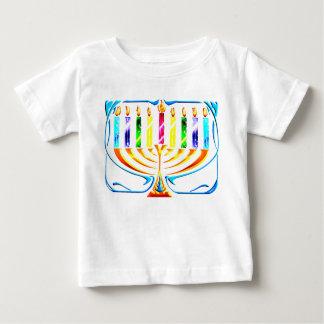 Hanukkah Menorah - Chanukah Menorah Baby T-Shirt