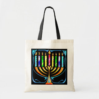 Hanukkah Menorah - Chanukah Menorah Budget Tote Bag
