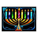 Hanukkah Menorah - Chanukah Menorah Cards