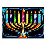 Hanukkah Menorah - Chanukah Menorah Postcard