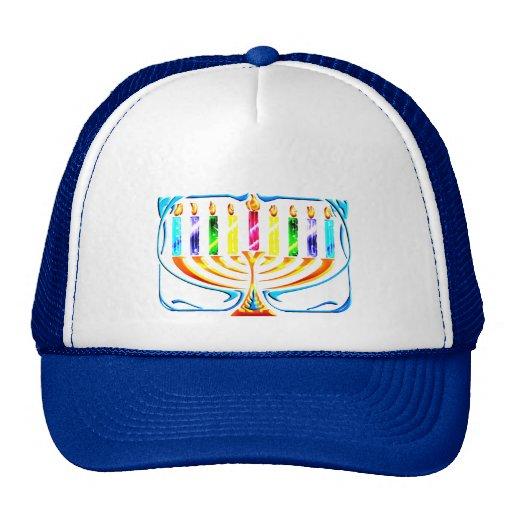 Hanukkah Menorah - Chanukah Menorah Trucker Hat