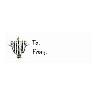 Hanukkah Menorah Gift Tags Business Card