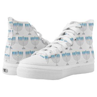 Hanukkah Menorah High-Top Sneakers