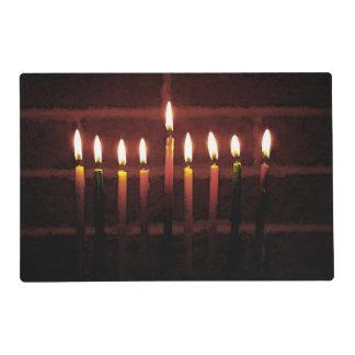 Hanukkah Menorah Laminated Placemat