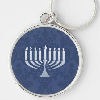 Hanukkah Menorah Large Premium Keychain