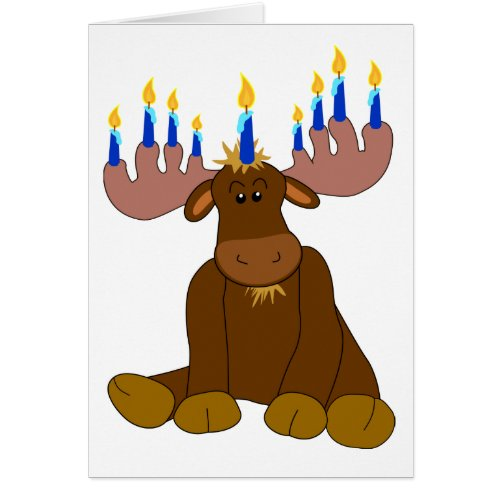 Hanukkah Moose Menorah Greeting Card