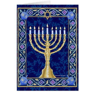 Hanukkah Menorah Notecard