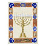 Hanukkah Menorah Notecard Greeting Cards